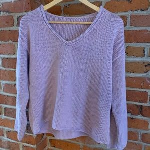 Sweaters - Beautiful Lilac Long Sleeve Knit Sweater!